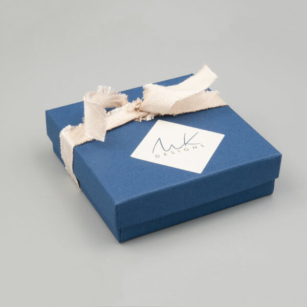 Premium Navy Gift wrapping with Ivory Silk Ribbon by MK Designs