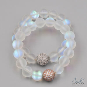 Rainbow Moonstone Opalite Bracelet by MK Designs