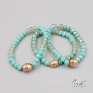 Bronze glass bead bracelet by MK Designs