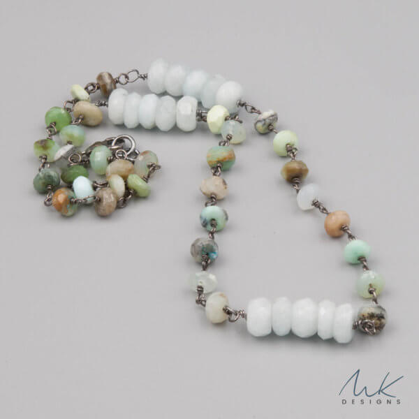 Amazonite Peruvian Opal necklace by MK Designs