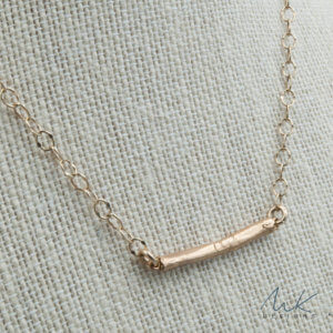 Skinny Bar Necklace in Bronze by MK Designs