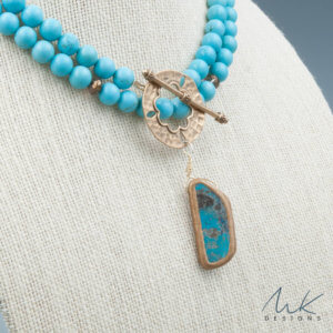 Magnesite and Turquoise Pendant Necklace
