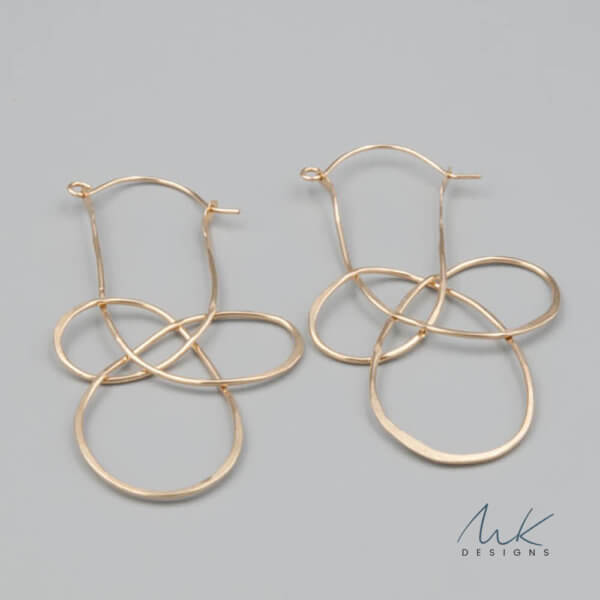 Celtic Knot Josephine Earrings in Silver and Gold by MK Designs