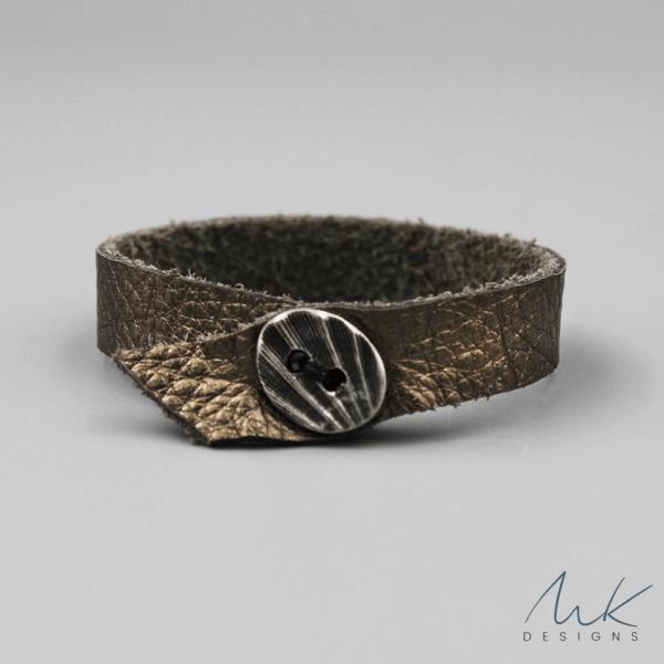 leathermetallicbracelet by MK Designs