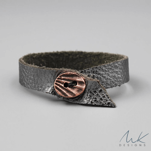 leathermetallicbracelet by MK Designs