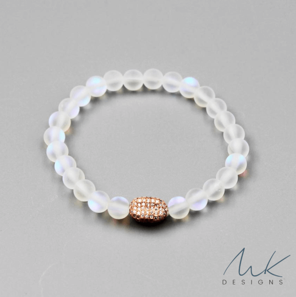 Rose Oval Rainbow Opalite Bracelet by MK Designs