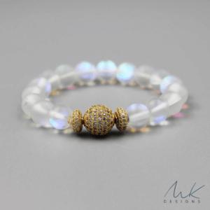 Rainbow Moonstone Opalite Bracelet by MK Designs