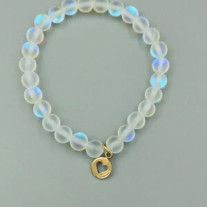 Rainbow Opalite and Bronze Charm Bracelet by MK Designs