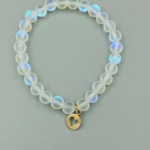Rainbow Opalite and Bronze Charm Bracelet by MK Designs