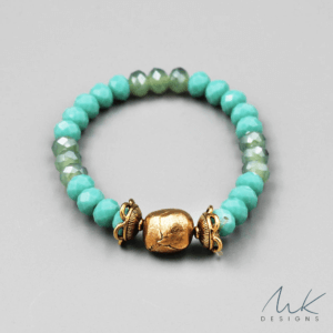 Bronze Glass Bead Bracelet by MK Designs