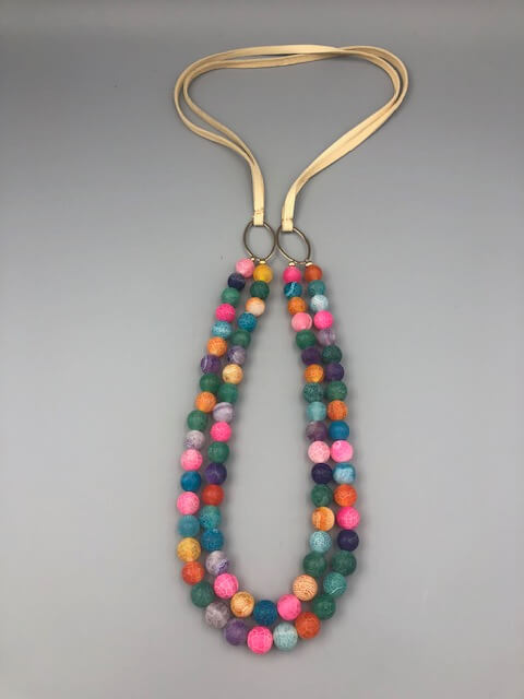 Long Bright Boho necklace by MK Designs