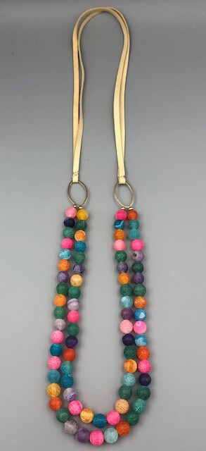 long brigiht boho necklace by MK Designs