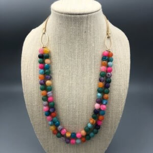 Long Boho Bright Necklace by MK Designs