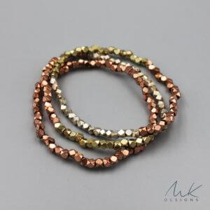Triple Metallic Stretch Bracelet