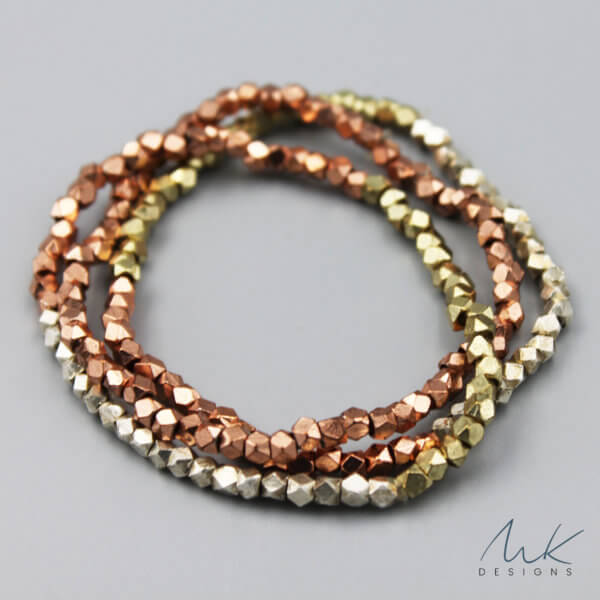 Triple Metallic Stretch Bracelet