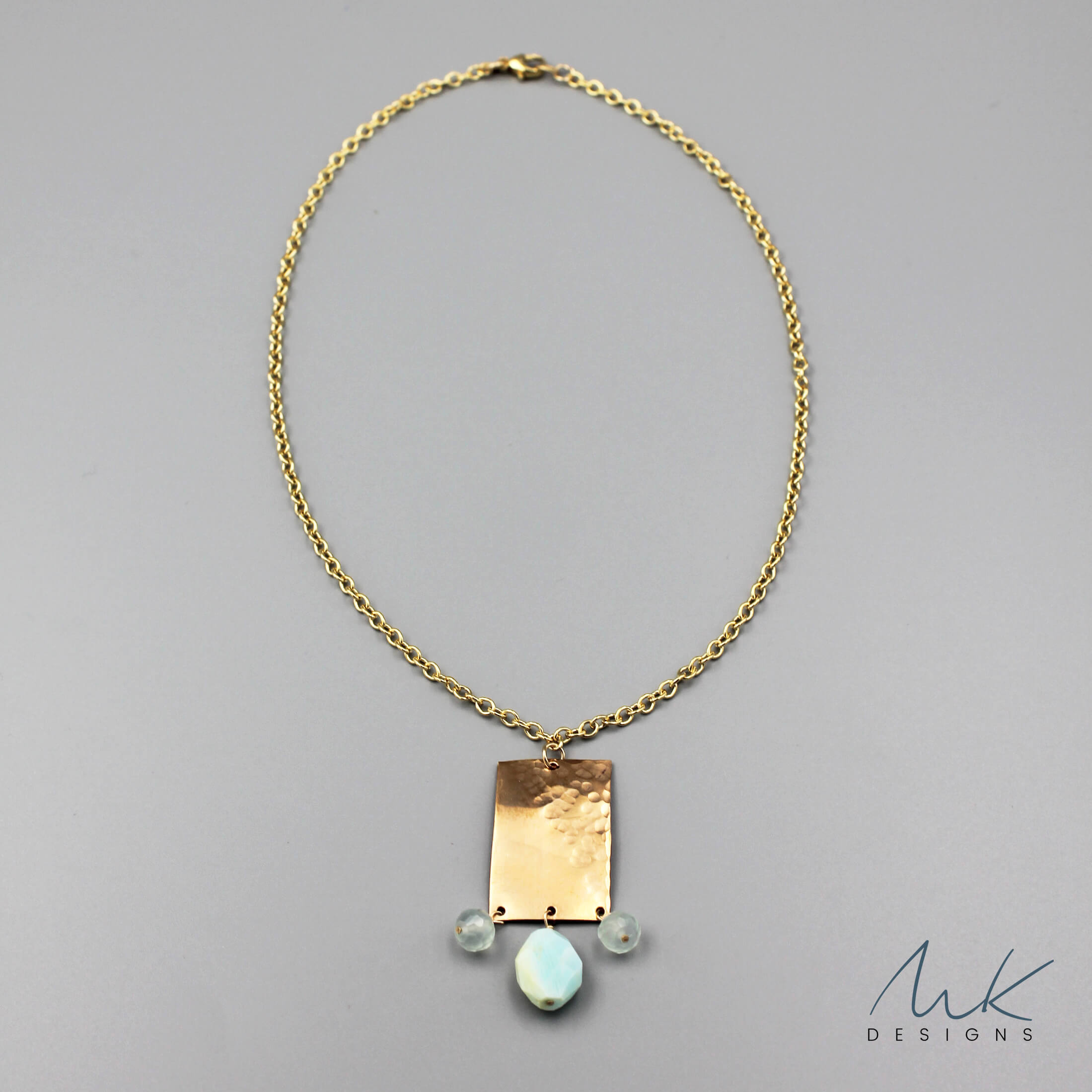 finest selection 60469 e8ef0 Bronze Rectangle Pendant Necklace