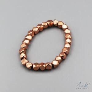 Large Sparkly Stretch Bracelet in Copper
