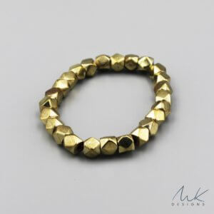 Large Sparkly Stretch Bracelet in Gold