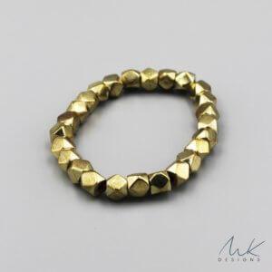 Large Sparkly Stretch Bracelet in Gold