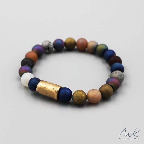 Bronze Mixed Druzy Agate Bracelet