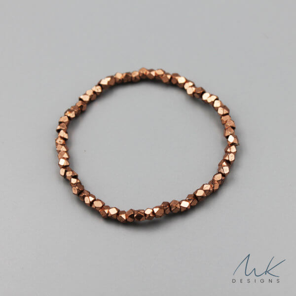 Sparkly Stretch Bracelet in Copper