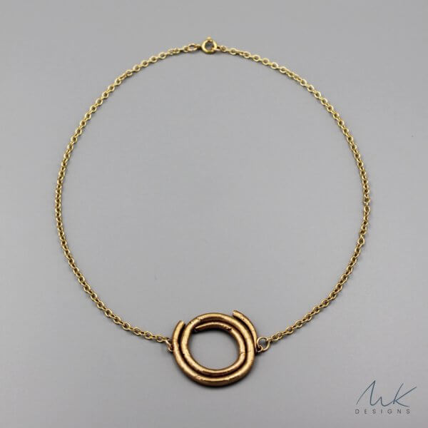 Bronze Rope Pendant Necklace