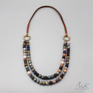 Bronze Mixed Druzy Agate Necklace