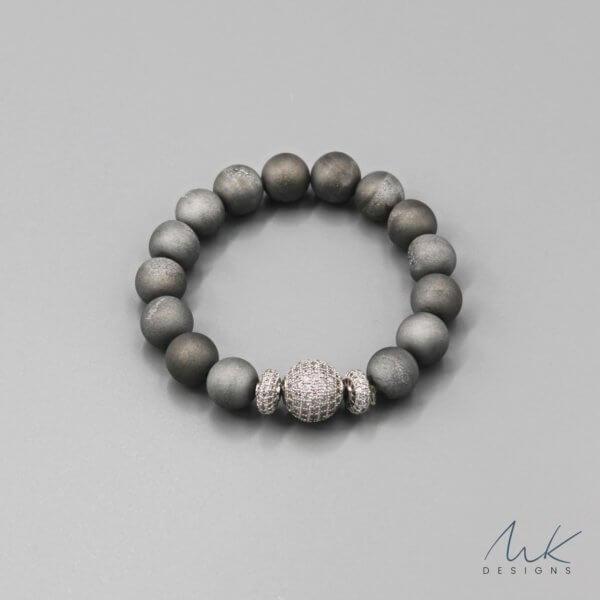 Gray Druzy Bracelet