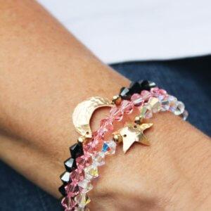 Stacked Celestial Swarovski Bracelets