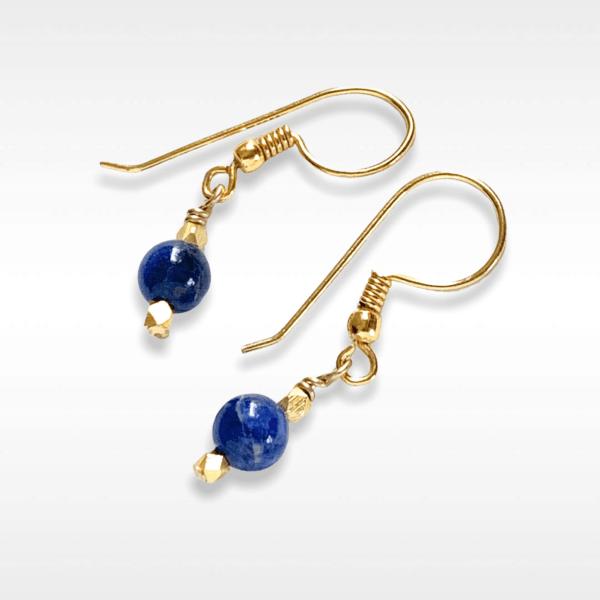 Lapis Bead Earrings by MK Designs