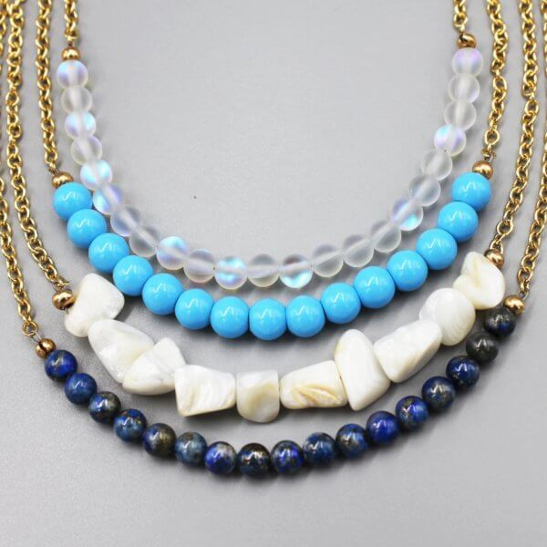 Multi-Stack Necklaces by MK Designs
