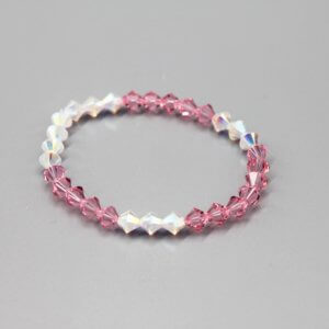 Pink and Clear Swarovski Bracelet