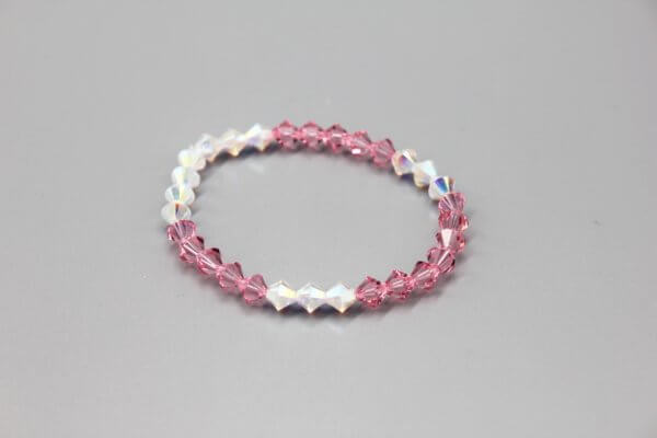 Pink and Clear Multicolor Swarovski Bracelet