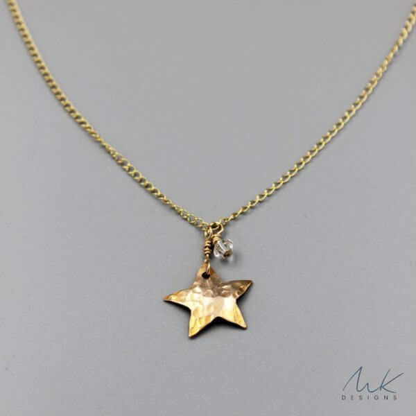 Bronze Star Pendant Necklace
