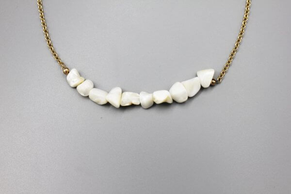 Long Chunky Pearl Necklace by MK Designs
