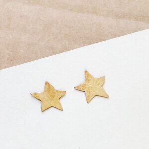 Bronze Star Stud Earrings