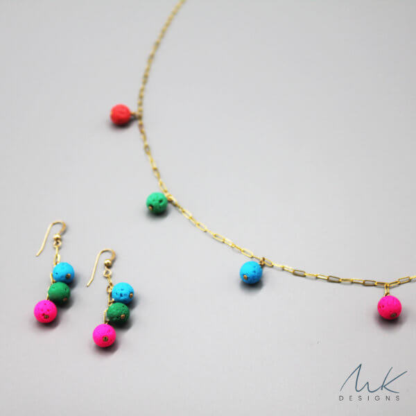 Gold Colorful Necklace