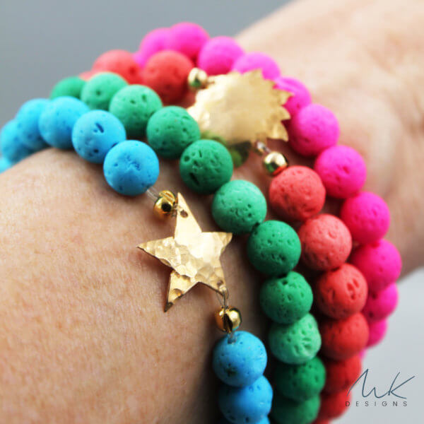 Bright Colorful Celestial Stacking Bracelets