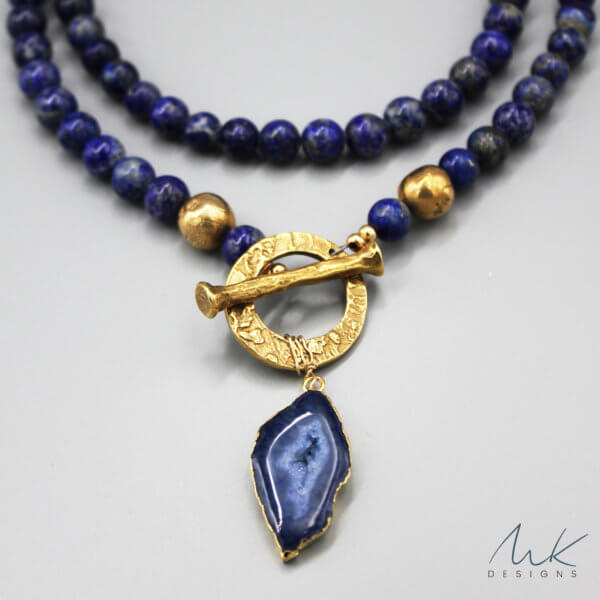 Lapis Bronze Necklace