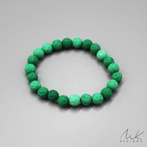 Green Lava Bead Bracelet