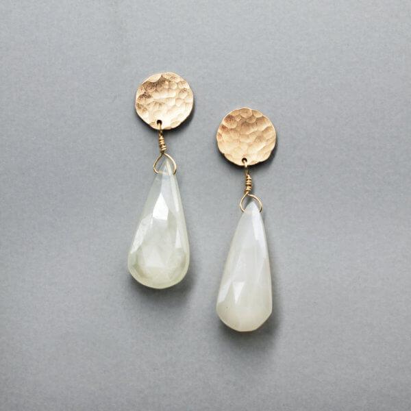Geometric Circle Drop Earrings by MK Designs