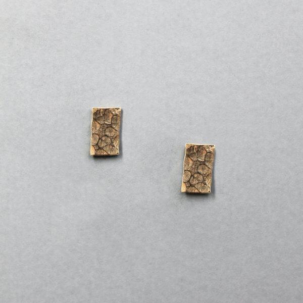 Geomteric Rectangle Stud Earrings by MK Designs