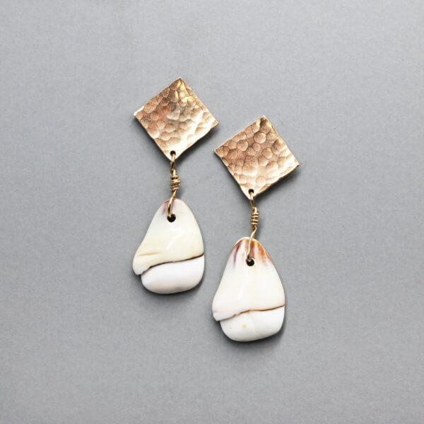 Geometric Square Drop Earrings by MK Designs