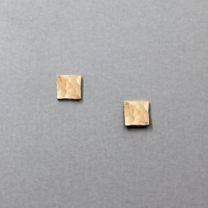Geometric Square Stud Earrrings by MK Designs