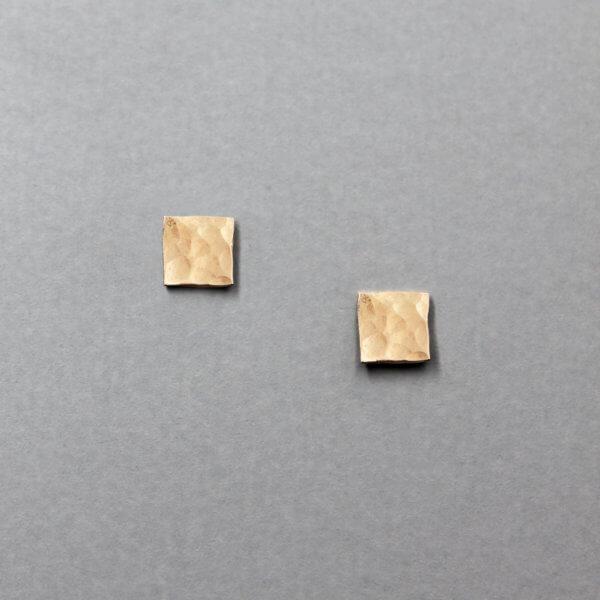 Geometric Square Stud Earrrings by MK Designs