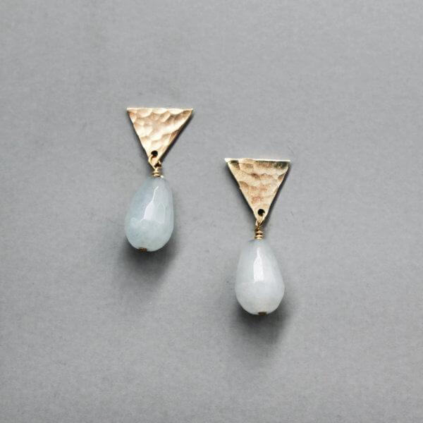 Geometric Triangle Drop Earrings by MK Designs