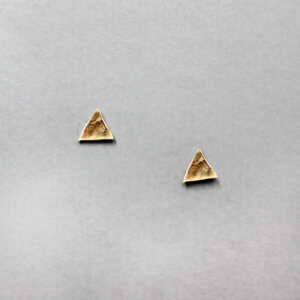 Geometric Triangle Stud Earrings by MK Designs