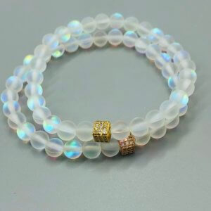 Square Rainbow Opalite Bracelets