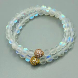 Small Ball Rainbow Opalite Bracelet by MK Designs