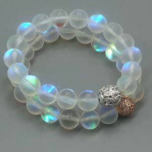 Large Rainbow Opalite Bracelet by MK Designs